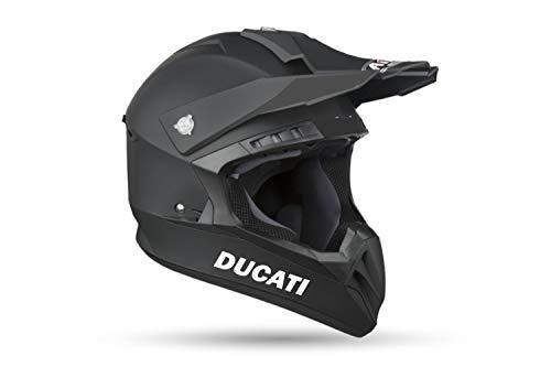 myrockshirt 2X Ducati Schriftzug Helmaufkleber Helm Motorrad Aufkleber Sticker Decal Profi-Qualität ohne Hintergrund Bike Tuning