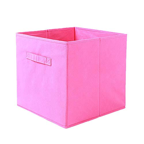 HDSFD Contenedores de almacenamiento de ropa, organizador plegable, caja de almacenamiento para armario, cajón para libros, juguetes de bebé, ropa, zapatos con asas.