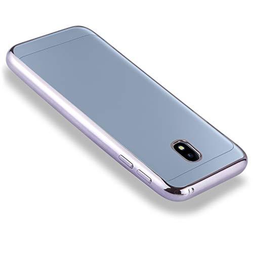 YANTAIAN para Samsung Galaxy J5 (2017) (versión de la UE) Caso de Cubierta Protectora de TPU Lateral de galvanoplastia (Color : Grey)