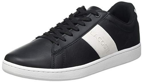 Lacoste Herren Carnaby EVO 0120 3 SMA Sneaker, Schwarz Blk Off Wht, 42.5 EU