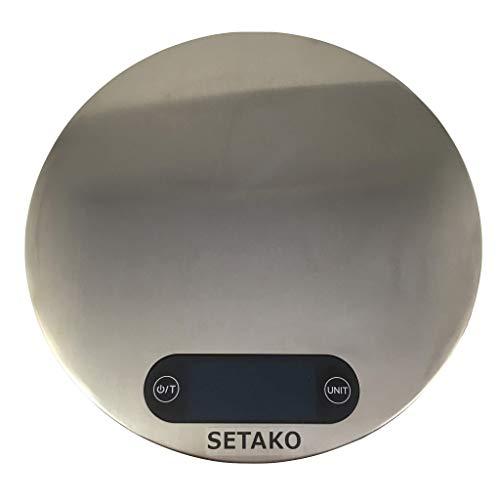 SETAKO 勢田工業 1g単位で最大5kg計量 壁掛け 丸型 デジタルスケール キッチンスケール 精密はかり 電子秤 簡易日本語説明書付