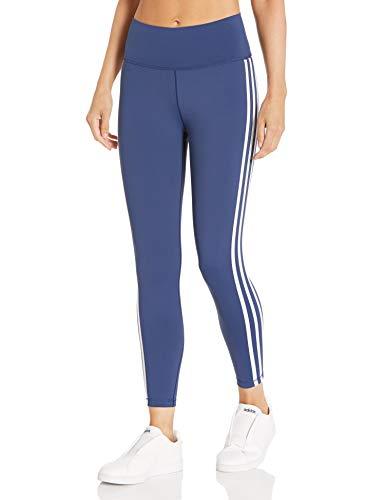 adidas Damen Believe This 2.0 3-Streifen 7/8 Tight Tights Small Indigo/Weiß