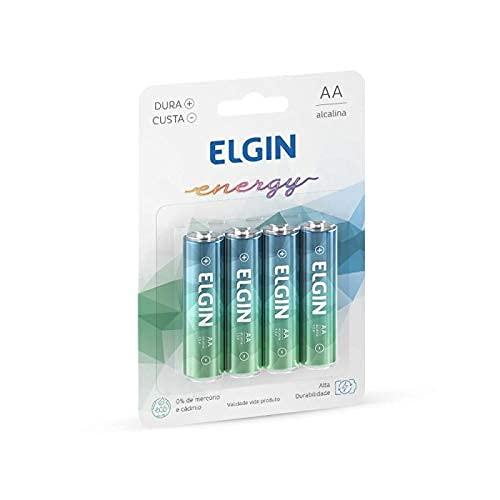 Kit Pilhas Alcalinas com 4X AA, Elgin, Baterias