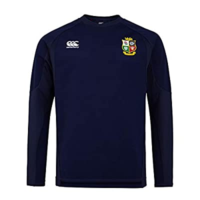 Canterbury of New Zealand Men's British and Irish Lions Rugby Tech Drill 1st Layer, Peacoat, L by Canterbury