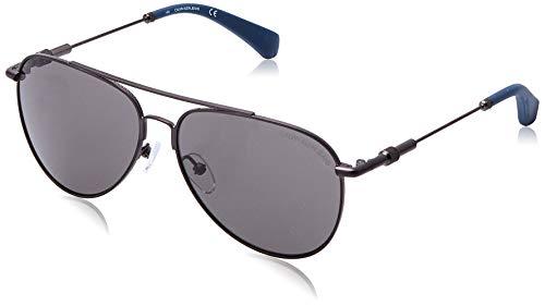 Calvin Klein JEANS EYEWEAR CKJ162S Gafas de Sol, metálico, 5914 Unisex Adulto