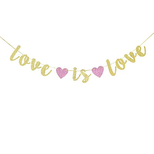 Love is Love Banner Sign Garland, Lgbt Pride Party Decorations, Coming Out, Wedding, Engagement, Celebrations Decor Supplies