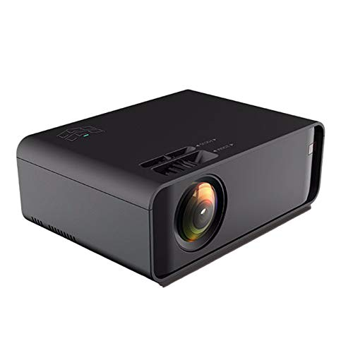AWJK Proyector WiFi, Proyector Portátil, 6000 Lúmenes, Soporta 1080p Full HD, Cine en Casa 200' Duplicar Pantalla para Android/iPhone Smartphone iPad,HDMI/USB/VGA/AV/SD,Negro
