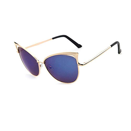 LODDD Women Clear Lens Cat Eye Sunglasses Metal Spectacle Frame Myopia Eyeglasses Sunglasses