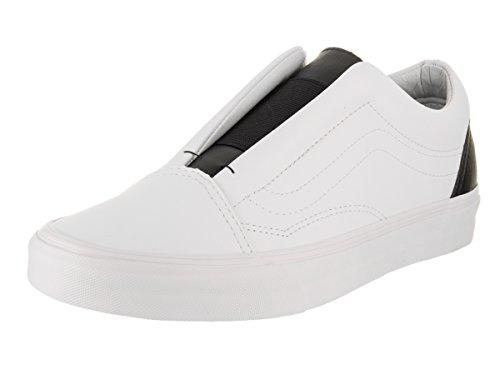 Vans Unisex Old Skool Laceless Skate Shoe - True White/Black 9