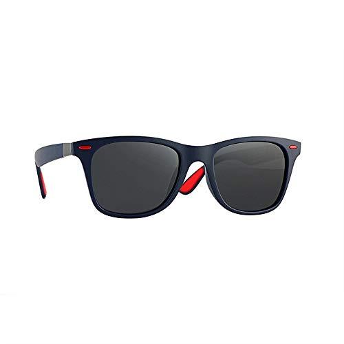 ZEZKT gafas de sol polarizadas para hombres gafas de sol cuadradas clásicas moda casual sunglasses con caja adulto gafas para viajes al aire libre D