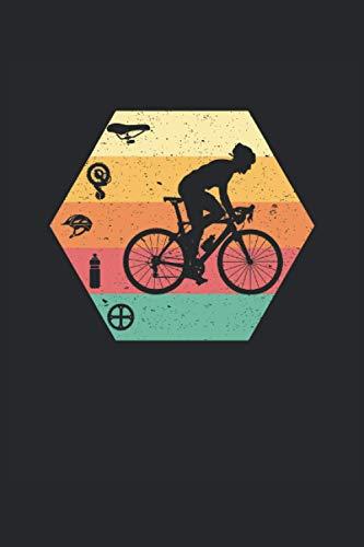 Bicicleta de carreras retro vintage cuaderno A5 de 120 páginas para ciclistas de carrera (6x9 pulgadas): Cuaderno como idea de regalo para ciclistas y ... de carreras para planificar recorridos.