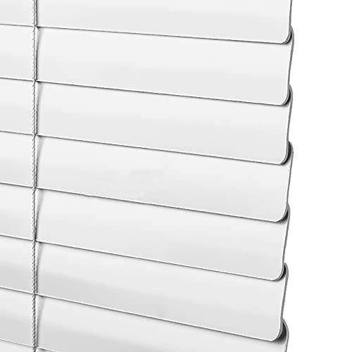 SSZY Estor Enrollable persianas venecianas 105cm/150cm/60cm/120cm/110cm de Ancho Persianas Venecianas de Aluminio, Blanco Impermeable Oficina Cocina Ventanas Persianas Persianas, Incluir Accesorios