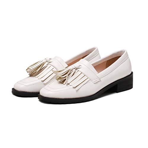 Platform Oxford-schoenen Voor Dames Klassiekers Kwast Instappers Instappers Casual Brogue-mocassins Kantoor Carrière Werk Enkele Schoenen