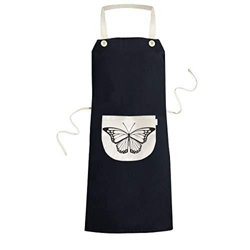 beatChong Simple Black Butterfly Speci Cuisiner Cuisine Noir Tabliers Bavoir de Poche pour Les Cadeaux de Chef