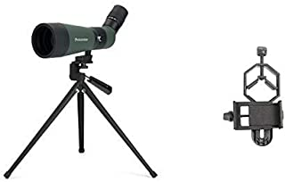 Celestron 52322 Landscout 12-36x60 Spotting Scope (Army Green) with Basic Smartphone Adapter 1.25