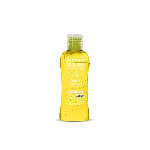 BABARIA Gel de manos hidroalcohólico vainilla, 50 ml