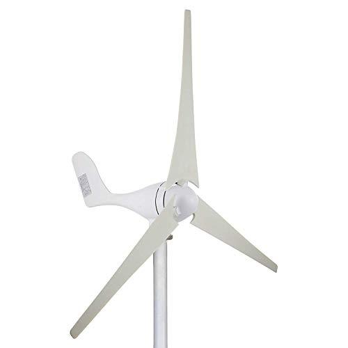 FlowerW 100 Watt 12 V Wind Turbine Generator 3 Klingen Kit MPPT Laderegler Horizontale Windkraftanlage Generator Power Supplementation (100 Watt 12 V) (100 Watt 12 V)