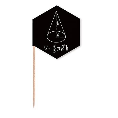 Matemática Kowledge Cone circular Volume palito bandeiras de cupcake palitos festa celebração