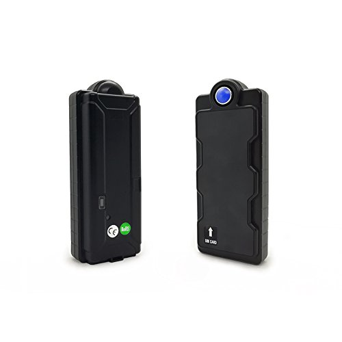 KingNeed Magnet Portable SPY GPS Tracker + Logger with 4GB SD Card/360 Working Days long battery life/ IPX7 WaterProof/ GSM Home Alarm/ Drop-trigger alert/for Personal/Car Vehicles