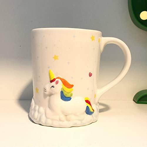 Copa De Vino Taza De Café Taza3D Stereo Unicorn Ceramic Mug Animal Handle Coffee Cup Taza Unicornio Travel Coffee MugPink C