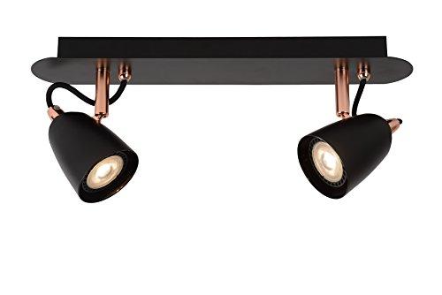 Lucide RIDE-LED - Spot Plafond - LED Dim. - GU10 - 2x5W 3000K - Cuivre