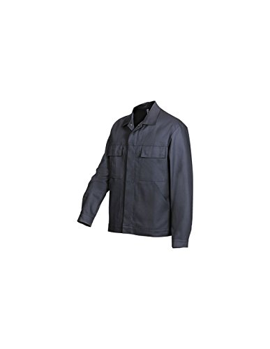 BP 1485-060-10-48/50 Arbeitsjacke, Verdecktes Druckknopfband und Taschen, 300,00 g/m² Reine Baumwolle, dunkelblau ,48/50