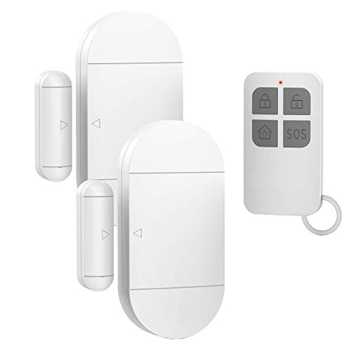 Door Window Pool Alarm with Remote Control,2Pack 130dB Wireless Magnetic Sensor Anti-Theft Door Alarms for Kids Safety Home Store Garage Apartment Business Security