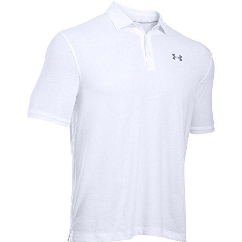 [アンダーアーマー] ゴルフ/ポロシャツ チャージドコットンスクランブルロゴ 1281003 メンズ WHITE/WHITE ...