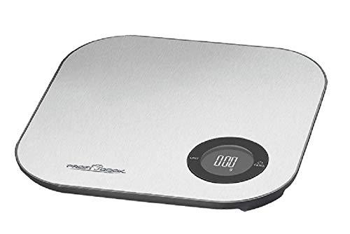 Digitale Küchenwaage mit Tara bis 5 kg Haushaltswaage Digital Edelstahl (Bluetooth App, Kalorien, Batteriebetrieb, bis 5 kg)