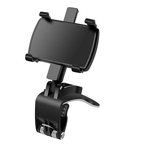 Supporto per telefono per auto Rotazione 360°+180°Parasole per auto Supporto per specchietto retrovisore per telefoni cellulari 3-7 pollici