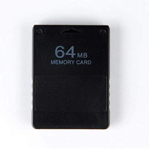 WICAREYO Nero 64MB Modulo 64M di scheda di memoria per PlayStation 2 PS2