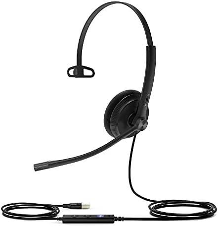 wholesale HWUSA Yealink 2021 UH34 outlet sale Mono Lite UC USB-A Headset online sale
