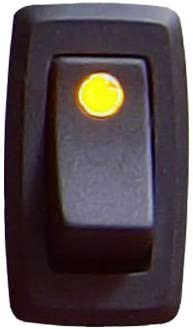 Keep It At the price of surprise Clean 126022 Yellow 16 Rocker 12V Illuminated Super Special SALE held Switch Amp