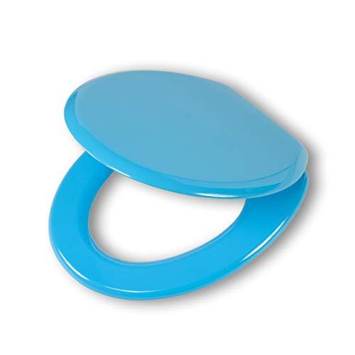 Tiger 2524 toiletbril Monterrey, hout, kleur: blauw, metalen bevestiging