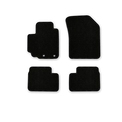 Bär-AfC SU03770 Basic Auto Fußmatten Nadelvlies Schwarz, Rand Kettelung Schwarz, Set 4-teilig, Passgenau für Modell Siehe Details