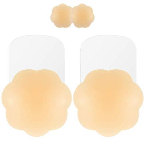 Niidor Pasties for Women Reusable Lift Pasties Petals Adhesive Pasties Bra (1 Pairs)