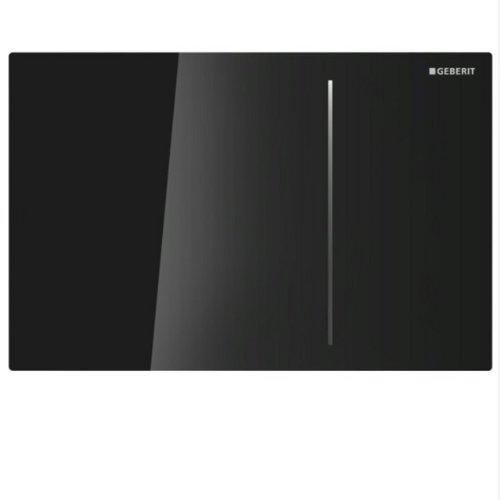 Geberit 115620SJ1 Abdeckplatte SIGMA 70 115.620.SJ.1 für 2-Mengenspülung Glas schwarz