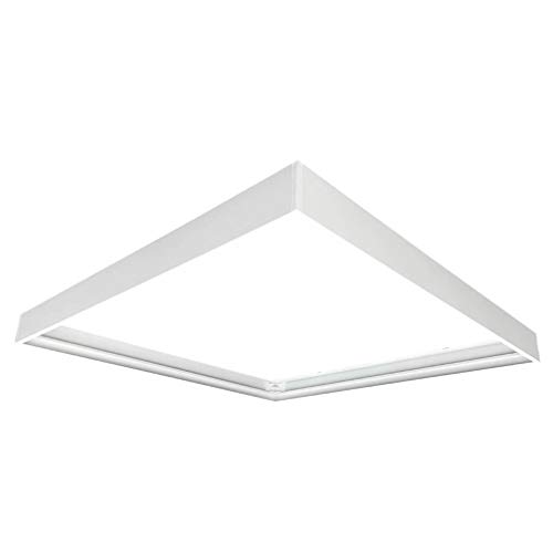 Panel LED, 62 x 62 cm, 40 W, incluye fuente de alimentación (marco de montaje), marco de montaje de aluminio