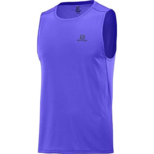 Salomon Agile Camiseta De Tirantes Hombre Trail Running Senderismo