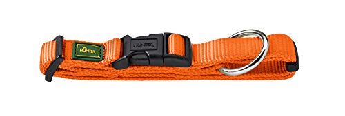 Hunter Vario Plus Collier pour Chien en Nylon, Orange, M/2,0 cm