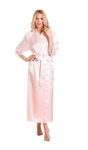 Damen-Morgenmantel, Kimono, Übergröße Gr. 52-54, rose