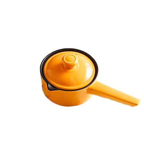 TaoRan Keramische kleine melk pot enkele handvat soep pot non-stick pot pap rijst granen gekookte instant noedels baby aanvullende voedsel kleine braadpan mini