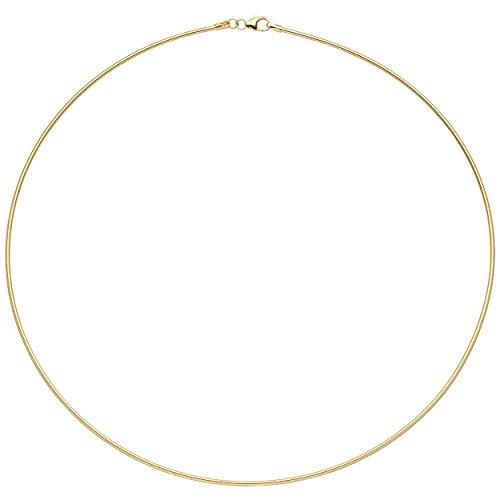 JOBO Halsreif 925 Sterling Silber gold vergoldet 1,5 mm 50 cm Kette Halskette