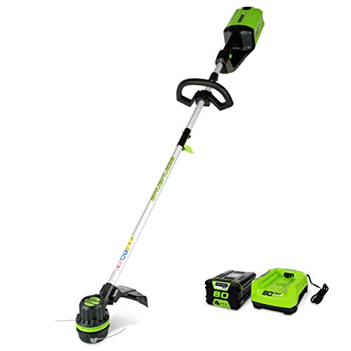 Greenworks 80V 16 inch String Trimmer, 2.0Ah Battery & Charger Included ST80L210