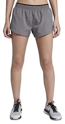 Nike Women's Elevate 3' Running Shorts (Medium) Gunsmoke/Black