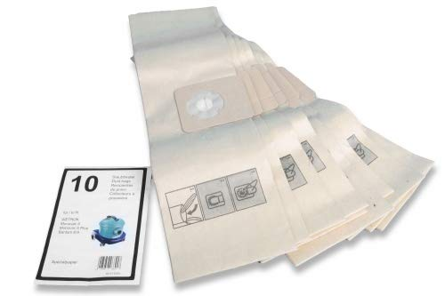10 premium stofzuigerzakken geschikt voor Wetrok Monovac 6, Bantam 6, Bantam 9