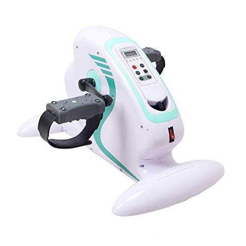Ejercitador de pedal eléctrico motorizado, Mini bicicleta estática eléctrica motorizada de fitness, Ejercitador de pedal para mano, brazo, rodilla y pierna, Mini equipo de rehabilitación de ciclismo