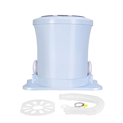 SEAAN Portable Spin Dryer for Clothes Manual Compact Landuary Dryer Non-electric High-Speed for Apartment Dorm Camping (Blue)