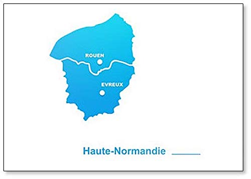 Haute-Normandie Kaart Klassieke Koelkast Magneet