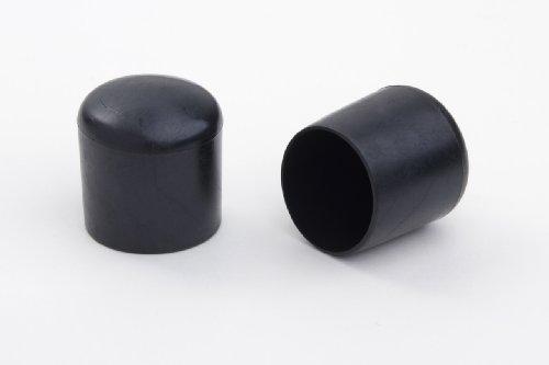4 Stück Stuhlbeinkappe Stuhlbeinschutz Bodenschutz Stuhlschoner Kunststoff schwarz Durchmesser 20mm, für alle Böden im Innen- und Aussenbereich